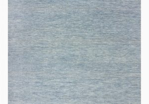 "Blue Hand Knotted Wool Rug solid Hand Knotted area Rug8 1"" X 10 1"""