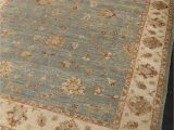 Blue Hand Knotted Wool Rug Sultanabad Persian Style Sea Blue Hand Knotted Wool Rug