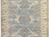 Blue Ivory area Rug Exquisite Rugs Oushak Hand Knotted 9214 Blue Ivory area Rug
