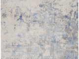 Blue Ivory area Rug Nourison Silky Textures Sly04 Blue Ivory area Rug