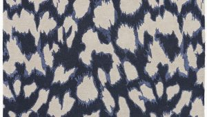 Blue Leopard Print Rug A Contemporary Take On Animal Print This Dark Navy Wool and
