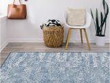 Blue Ombre Rug 8×10 Granite Ombre Slate Blue Rug