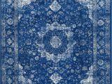 Blue oriental area Rug Bosphorus Distressed Persian Dark Blue Rug Distressed