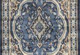 Blue oriental area Rug Emirates Traditional Persian oriental area Rug Blue Design 520 7 Feet 9 Inch X 10 Feet