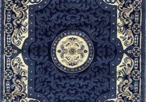 Blue oriental area Rugs Traditional Persian oriental area Rug Dark Navy Blue Beige Carpet King Design 101 8 Feet X 10 Feet 6 Inch