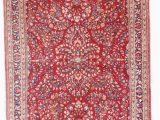 "Blue oriental Rug Runner 6757 Antique Sarouk Persian Rug 4 3"" X 6 5"""