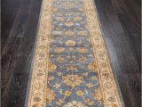 Blue oriental Rug Runner Rugsville Sultanabad Ziegler oriental Blue Ivory Hand Knotted Runner Rug 60×488