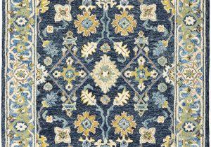 Blue oriental Rugs 8×10 oriental Weavers Alfresco Navy Blue area Rug