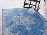 Blue Outdoor Rug 9×12 Outdoor Traditional Blue 9×12 area Rug Indoor Outdoor