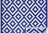 Blue Outdoor Rugs On Sale Fh Home Indoor Outdoor Recycled Plastic Floor Mat Rug Reversible Weather & Uv Resistant Aztec Blue & White 6 Ft X 9 Ft