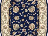 Blue Oval area Rugs Dynamic Rugs Ancient Garden Blue Ivory Classic Oval area Rug