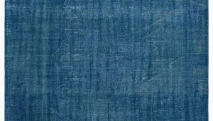 """Blue Overdyed area Rug Blue Over Dyed Turkish Vintage Rug 6 X 8 9"""" 72 In X 105 In"""