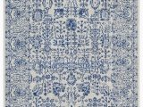 Blue Pattern area Rug Aubinelle Rug