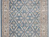Blue Pattern area Rug Statham oriental Blue Beige area Rug