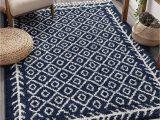"Blue Pattern area Rug Well Woven Allie Blue Moroccan Shag Diamond Trellis Pattern area Rug 5×7 5 3"" X 7 3"""