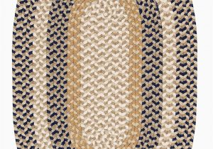 Blue Ridge Braided Rugs Burmingham Blue Crest 10ft Round Braided Rugs Sale