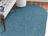 Blue Ridge Braided Rugs De All Azure Braided Oval Indoor Outdoor area Rugs 4 X6 Oval Blue