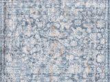 Blue Rug with Fringe Folktime Faded oriental Fringe Blue Rug In 2020