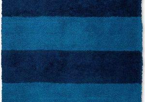 Blue Shaggy area Rug Chicago Striped Handmade Shag Blue Navy area Rug