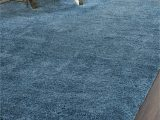 Blue Shaggy area Rug Malibu Shag solid Blue area Rug