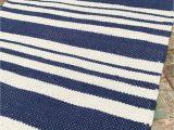 Blue Stripe Cotton Rug Fair Trade Beach Style White Stripe Cotton Rug Green Grey