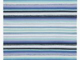 Blue Stripe Cotton Rug Serape Blue Stripe Woven Cotton Rug