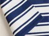 Blue Stripe Cotton Rug Striped Cotton Rug