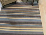 Blue Striped Wool Rug Blue Brown Ivory Striped Handmade Wool Rug 8 X 10 and More