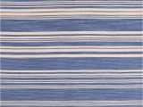 Blue Striped Wool Rug Productandname Display