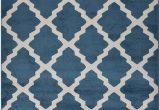 "Blue Trellis area Rug Fy Collection Trellis area Rug Lattice Modern Contemporary Rug 4 Color Options Teal Blue 18"" X 30"" Mat"