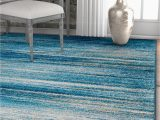 Blue Tribal area Rug Layla Stripes Blue Tribal area Rug soft Faded Abstract Modern Carpet