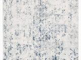 Blue White and Grey Rug Farah Distressed Contemporary Rug White Blue Grey – Aladdin
