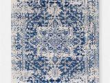 Blue White and Grey Rug Prisha Rug White and Blue