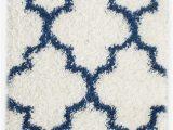 Blue White Shag Rug Burgess Geometric Shag Blue White area Rug