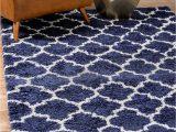 Blue White Shag Rug Navy Blue 8 X 10 Marrakesh Shag Rug area Rugs