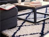 Blue White Shag Rug the Amb0658 area Rug From Anji Mountain Features A 50 Rayon