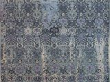 """Blue Wool area Rugs 8×10 Jaldar Blue Hand Knotted 8 1"""" X 10 0"""" area Rug 902"""