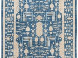 Blue Wool Rug 9 X 12 Contemporary Blue and Ivory Oushak Style Wool Rug 9×12