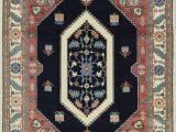 Blue Wool Rug 9 X 12 E Of A Kind Handwoven 9 X 12 Wool Blue Peach area Rug