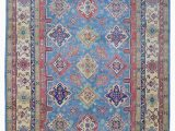 """Blue Wool Rug 9 X 12 Gilroy Hand Knotted 9 X 12 1"""" Wool Blue Beige area Rug"""
