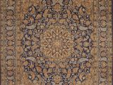 """Blue Wool Rug 9 X 12 Kerman Blue Hand Knotted 8 9"""" X 12 6"""" area Rug 100"""