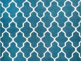 Blue Wool Rugs 8×10 Rugsville Moroccan Trellis Teal Blue Wool Rug 8×10