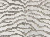 Blue Zebra Print Rug Pabon Handmade Zebra Grey area Rug