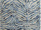 Blue Zebra Print Rug Pier 1 Imports Coda Zebra Blue Wool Rug