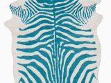Blue Zebra Print Rug Surya Rusak Zebra Print area Rugs