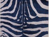 Blue Zebra Print Rug Zebra Indigo Carinilang Indigo Color Carpet Zebra