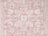 Blush and Gold area Rug Dazzle Disa Medallion Blush area Rug