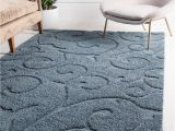 Bob S Discount Furniture area Rugs Blue Floral Shag area Rug In 2020