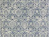 Bodell Dark Blue area Rug Bodell Power Loom Dark Blue White Rug