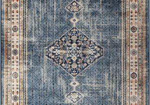 "Bohemian Rug Collection Ouman Blue thatch Amazon orian Meadow Ouman area Rug 7 10"" X 10 10"